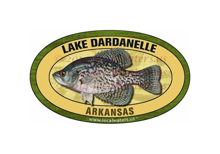 Lake dardanelle fishing sticker crappie decal by localwaters for Lake dardanelle fishing