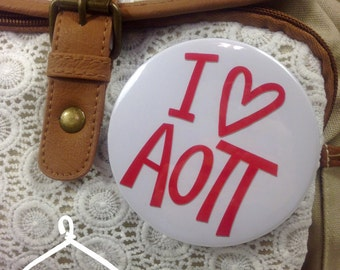 I {Heart} Alpha Omicron Pi Button or Magnet