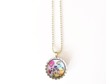 My Little Pony Bottle Cap Necklace