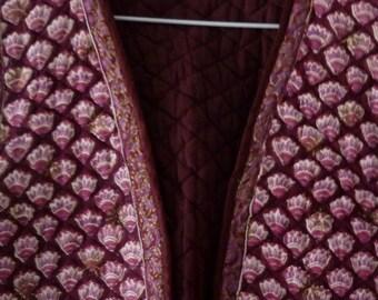 Dress Vintage Quilted Vest India Indian Boho