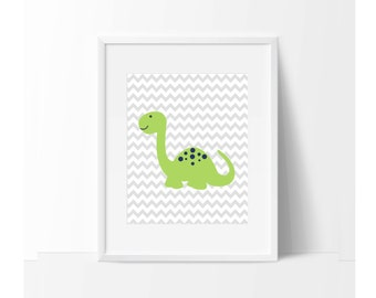 Nursery Decor, Nursery Art, Dinosaur Art Print, Baby and Kids room Decor Wall Art Print, personalize and customize - N128