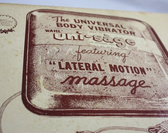 Vintage Universal Body Vibrator By Wahl - Uni-Sage Featuring Lateral Motion Massage