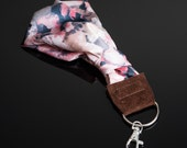 Luxury Silk Camera Wrist Strap (pink floral) - Sony a6000 or similar camera