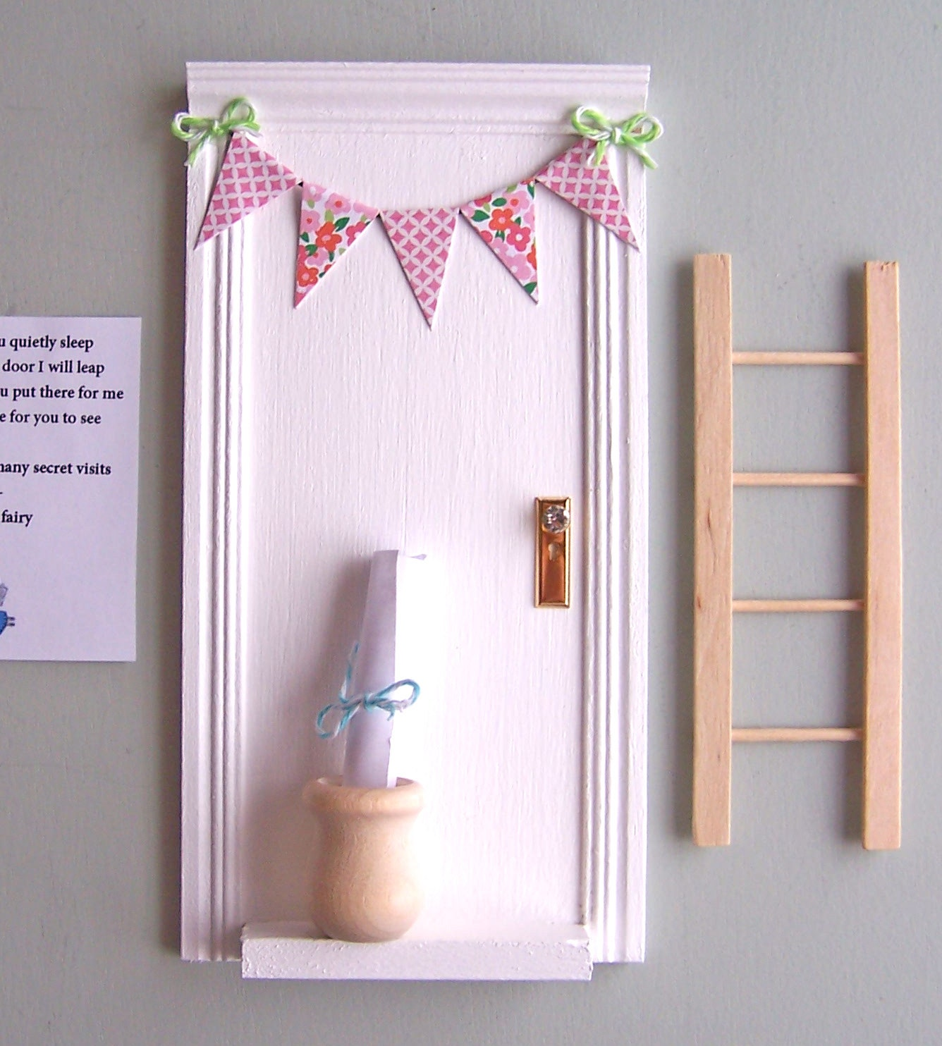 Magic tooth fairy door with little wooden pot perfect for a for My little magic door