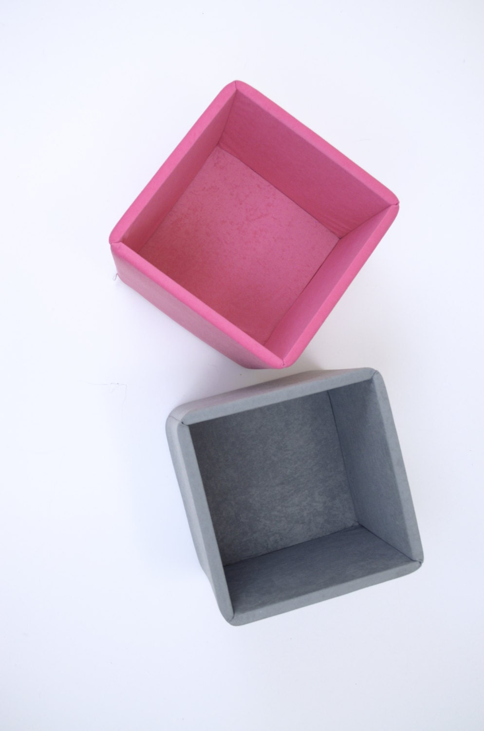 Pink & Gray kids toy storage boxes baskets bins containers