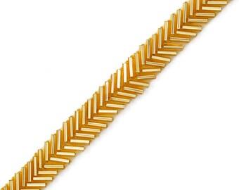 1 Row Beaded Trim, Wedding Trim for Wedding Decoration, home decor, craft projects by 1 yard, Black, Clear Iris, Gold, Silver, FF-3624