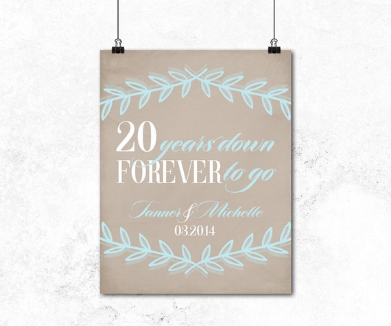 15th Wedding Anniversary Gift Ideas For Wife: 20th Anniversary Gift For Husband Or For Wife By