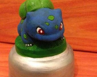 Handmade Glow in the Dark Bulbasaur Plaster Model