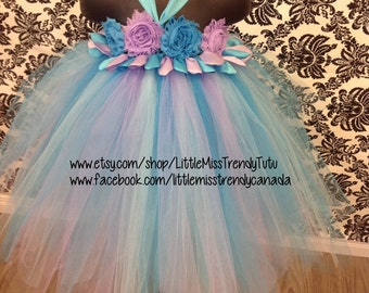 Abby Cadabby Inspired Tutu Dress, Abby Cadabby Tutu, Sesame Street Tutu Dress, Abby Tutu Dress, Birthday Tutu Dress, Abby Cadabby Costume