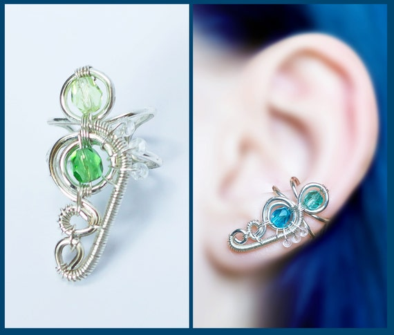 how to make an ear cuff wire wrapping