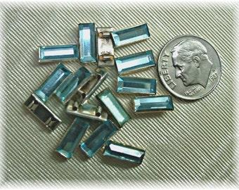 Rare 1940's 11x5 Aqua Montee 2 holes Select Color and Quantity