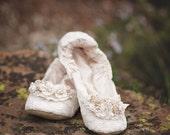 Lace Bridal Ballet Shoe,Princess Ballerina Slipper, Lace Dance Shoe,  Lace Wedding Ballet Flat,Elegant Lace Bridal Slipper, First Dance Shoe