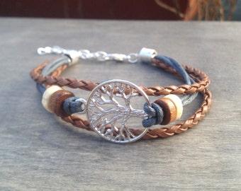 Tree of Life Bracelet Celtic Bohemian Bracelet Native American inspired Tribal Bracelet Irish bracelet viking bracelet