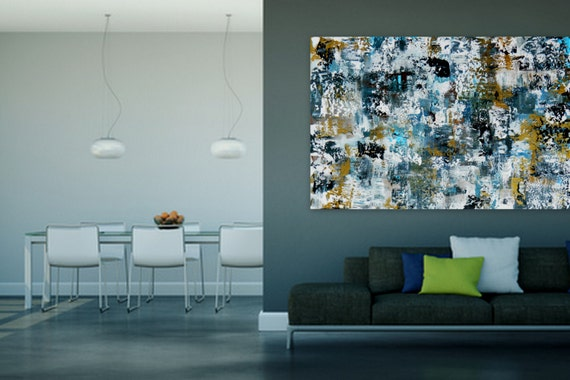 Custom Order Large original modern abstract painting by Marcy Chapman Shipped ready to hang!