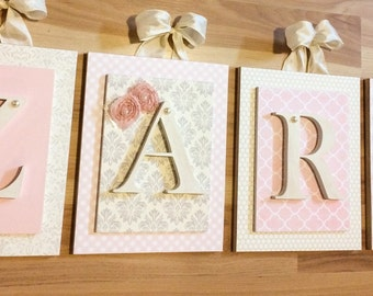 Nursery letters,wooden letters for nursery, personalized letters,wood letters,baby gift,custom nursery letters,custom wood letters,baby girl