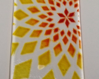 Handmade Funky Fused Glass Suncatcher