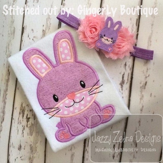 Bunny 53 Applique embroidery Design - Easter Applique Design - bunny Applique Design - rabbit Applique Design - baby Applique Design