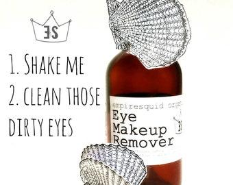 Organic Eye Makeup Remover - 4oz - All Natural Eye Make Up Remover - EmpireSquid Organics Simple Eye Makeup Remover