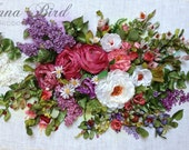 Bountiful Bouquet Ribbon Embroidery Art