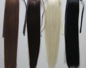 Ponytail Clip on 100% Human hair extension/ 18-20 inch