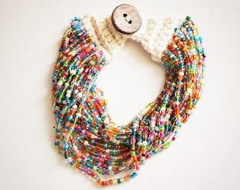 Multi Colors Beaded Bracelet