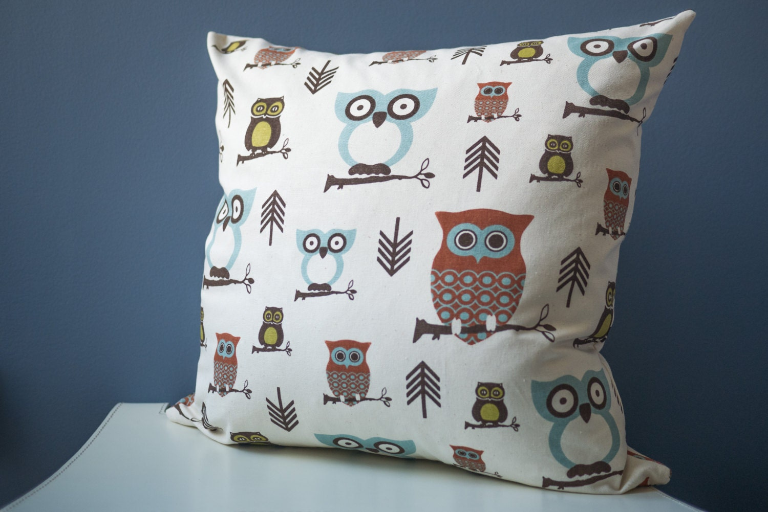 Owl Throw Pillow Etsy : Owl Throw Pillow Cover Owl Pillow Case Woodland by ThimbleAndTag