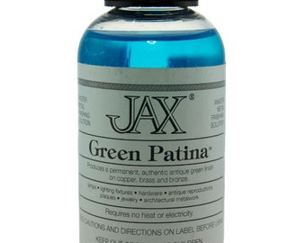 Jax Green Patina for Copper, Brass & Bronze 2oz Bottle  (PM9000)