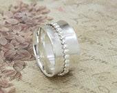 Sterling Silver Spinner Ring - Sterling Spinner - Fidget Ring - Meditation Ring