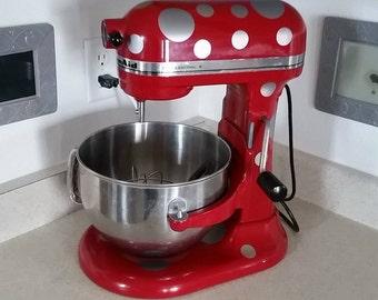 Polka-Dot Print Kitchen Aid Decal