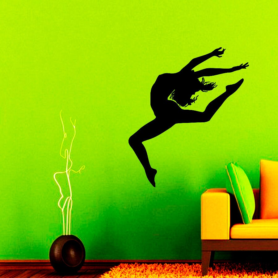 Ballerina wall decals dance studio decal vinyl sticker home zoom amipublicfo Gallery