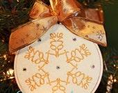 Love  Word Ornament Snowflake Design In the Hoop Applique Machine Embroidery Design 4x4 hoop