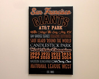 San Francisco Giants - Canvas or Poster