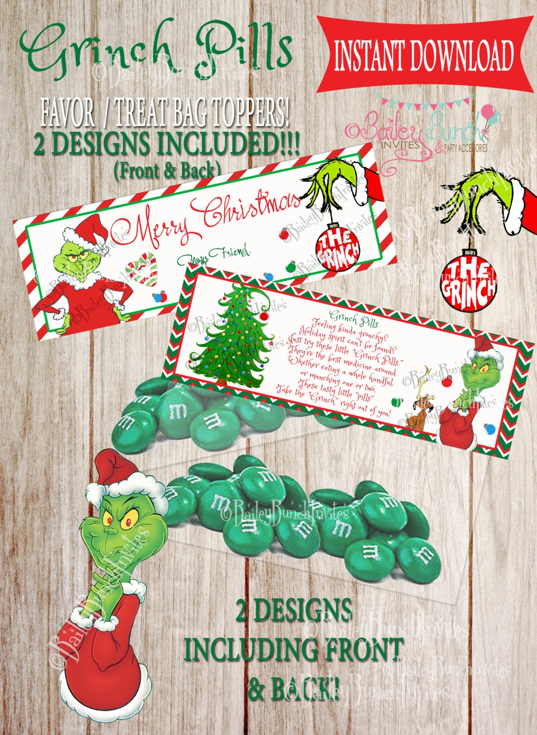Geeky image inside grinch pills printable