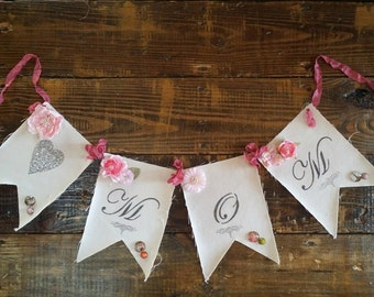 Mothers Day Banner, Mom Banner, Mom Garland, Baby Shower Decor, Maternity Photo Prop, New Mom Banner, Shabby Chic Mom Banner