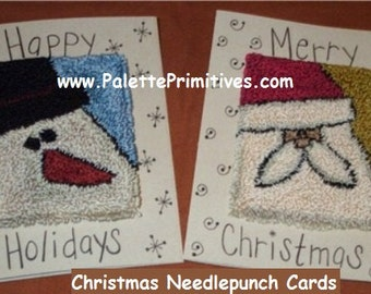 Christmas Needlepunch Cards - Instant Download Epattern