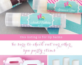 Girls Spa Party Favors - Kids Spa Party - Lip Balm Favors - Lip Balm Containers - Girl Birthday Party Favors Spa Theme (EB3031MDK) - 16| pcs