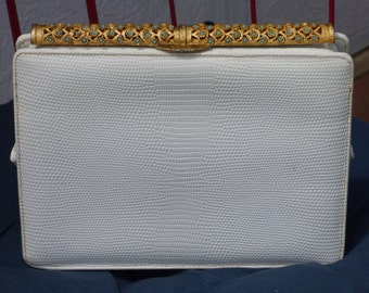 Elegant Evening Clutch - Creations by International - Vintage Design - Chic Sophistication - Gold Metal Bar with 72 Beads - Sweet - Clean