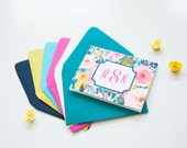 Monogrammed Stationary Personalized Stationary Boxed Note Cards Folded Note Cards