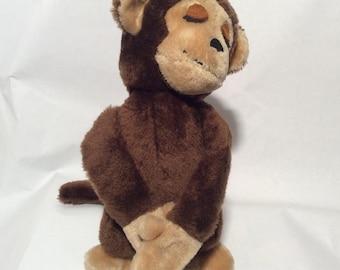 Vintage 1975 Dakin 1 half of Hugging Monkey Couple/Male/HUG HIM!