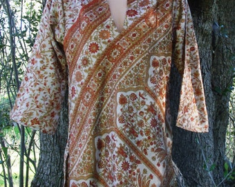 Indian Tunic- Ethnic Tunic Tribal Tunic Tunic Dress Tunic Top Bohemian Tunic Hippie Tunic Summer Dress Festival Outfit Faerie Clothing
