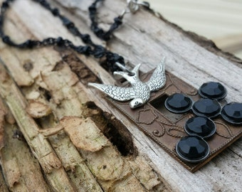 Necklace - Cross & Bird