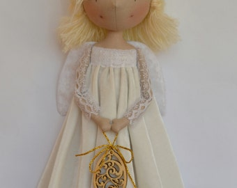 Easter Angel. Cloth Doll.