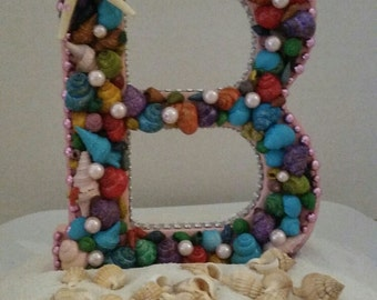 """Beautiful Letter """"B"""" shell covered initial"""