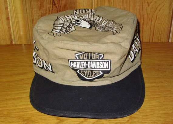 VINTAGE HARLEY DAVIDSON HAT LATE 1940s - EARLY 1950s ...  |Vintage Harley Davidson Hats