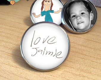 HANDWRITING - Your LOVED one's Handwriting or signature lapel pin - Child's Handwriting - Loved Ones Handwriting - handwriting lapel pin