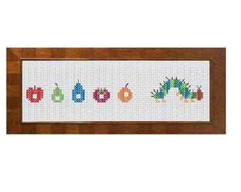 The Very Hungry Caterpillar Cross Stitch Pattern