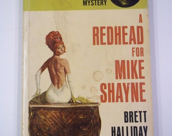 A Redhead For Mike Shayne by Brett Halliday Dell Books 1965 Vintage Mystery Paperback GGA