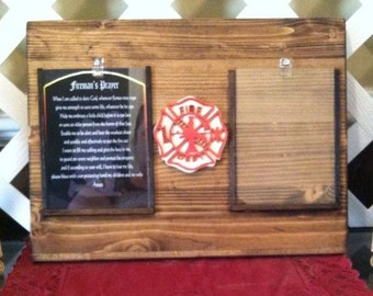 FireFighter Gift - FireFighter Plaque - Fireman Gift - FireFighter - Fireman Plaque - Fireman Prayer - Firehouse Gift - Fire Department Gift