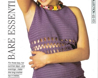 "Crochet pattern - Woman's top ""Bare Essentials"" vest - Instant download"