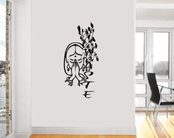 Hiboux arbre bouleau oiseaux chat vinyl wall par rinohomedecor for Collant mural canada
